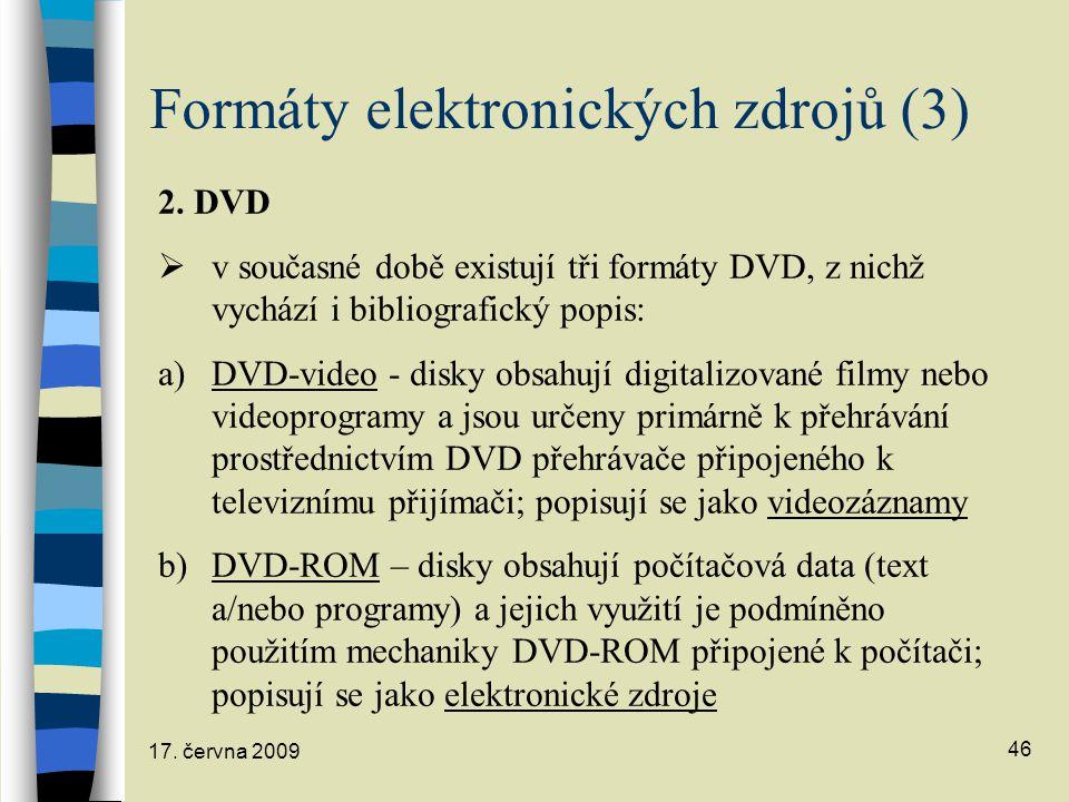 Formáty elektronických zdrojů (3)