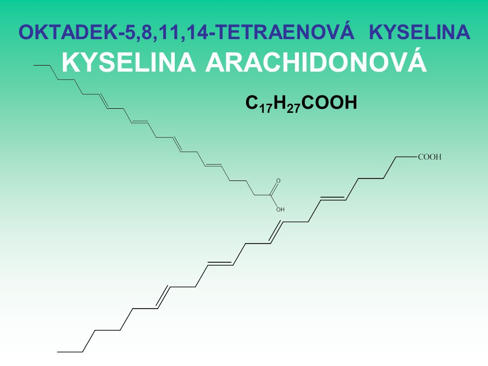 OKTADEK-5,8,11,14-TETRAENOVÁ KYSELINA KYSELINA ARACHIDONOVÁ