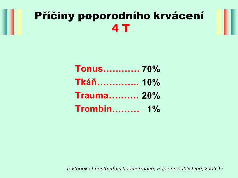 Příčiny poporodního krvácení 4 T