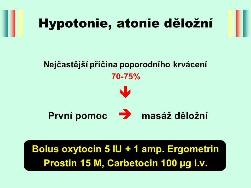 Hypotonie, atonie děložní