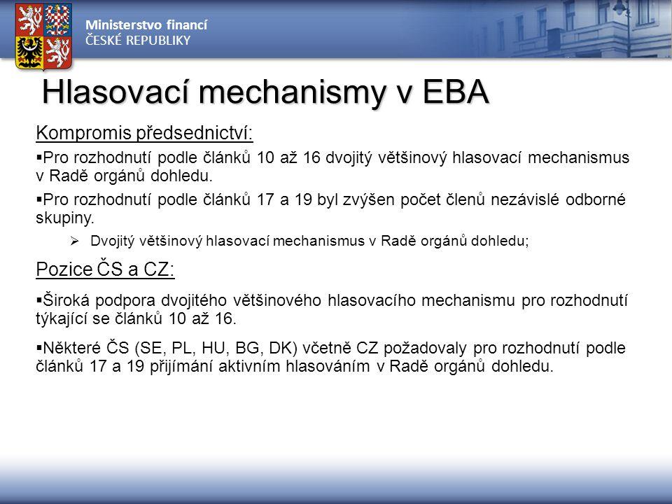Hlasovací mechanismy v EBA