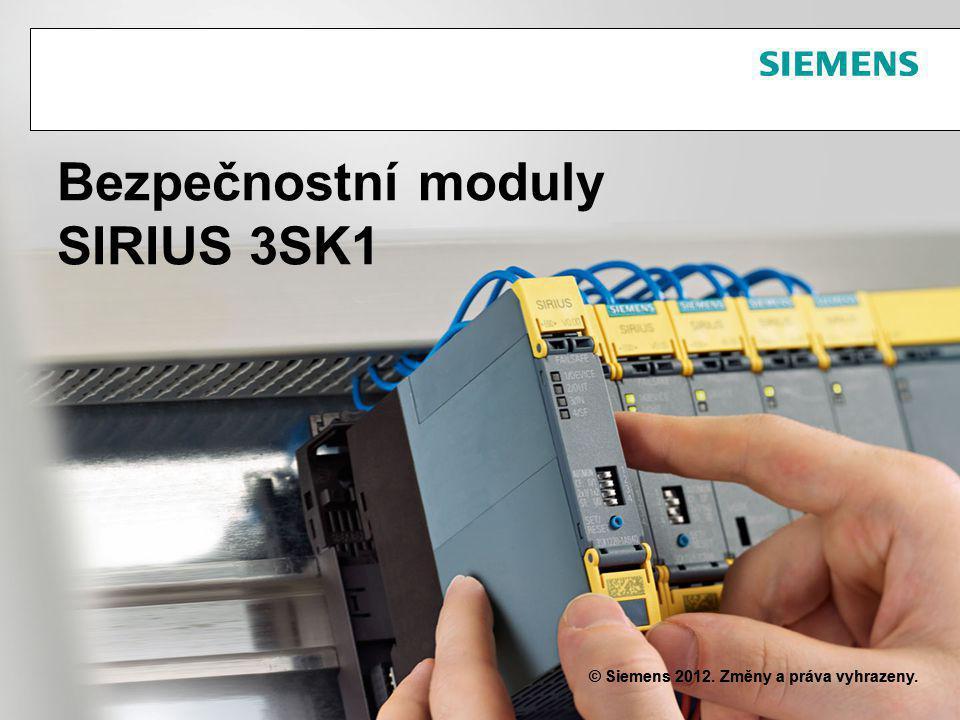 Bezpečnostní moduly SIRIUS 3SK1