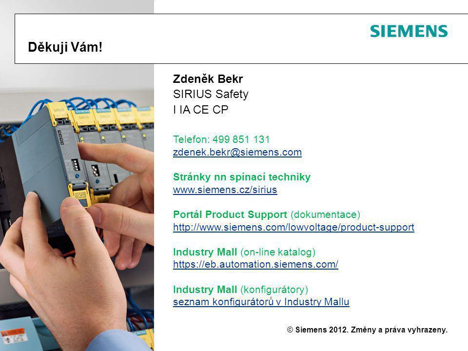 Bezpečnostní moduly SIRIUS 3SK1 Technikfolien