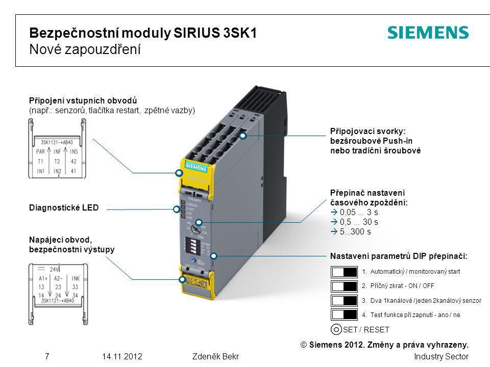 Bezpečnostní moduly SIRIUS 3SK1 Nové zapouzdření