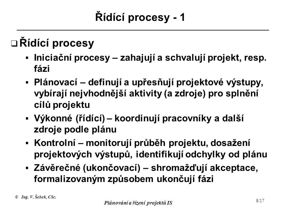 Řídící procesy - 1 Řídící procesy