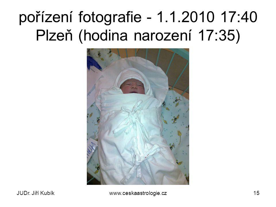 pořízení fotografie - 1.1.2010 17:40 Plzeň (hodina narození 17:35)