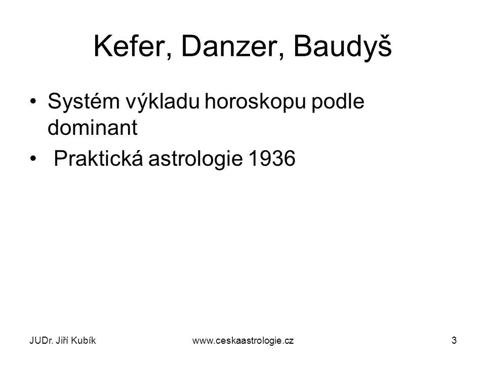 Kefer, Danzer, Baudyš Systém výkladu horoskopu podle dominant