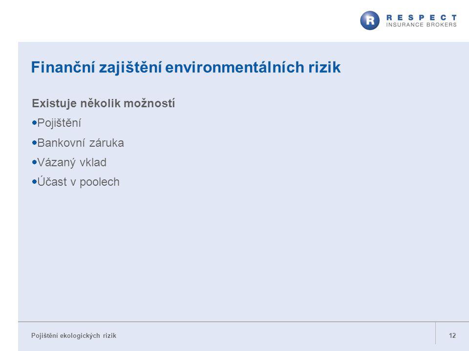 Finanční zajištění environmentálních rizik