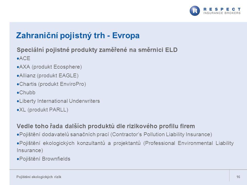 Zahraniční pojistný trh - Evropa