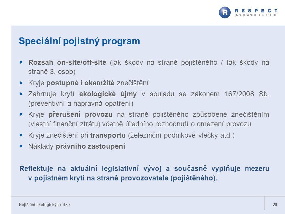 Speciální pojistný program