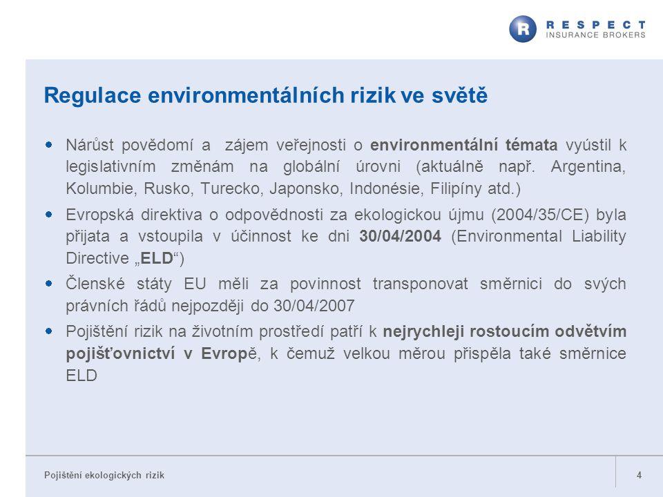 Regulace environmentálních rizik ve světě