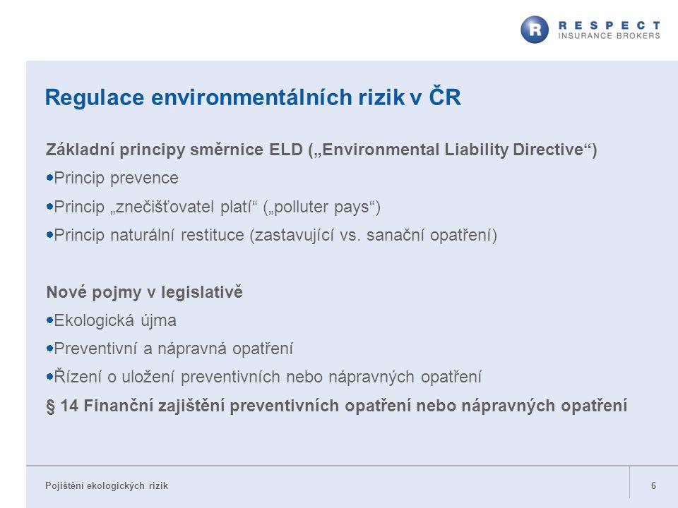 Regulace environmentálních rizik v ČR