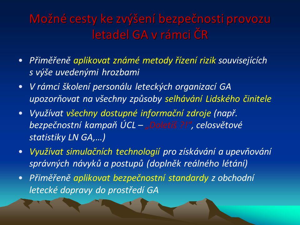 Možné cesty ke zvýšení bezpečnosti provozu letadel GA v rámci ČR