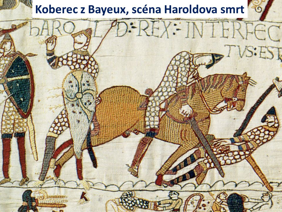 Koberec z Bayeux, scéna Haroldova smrt