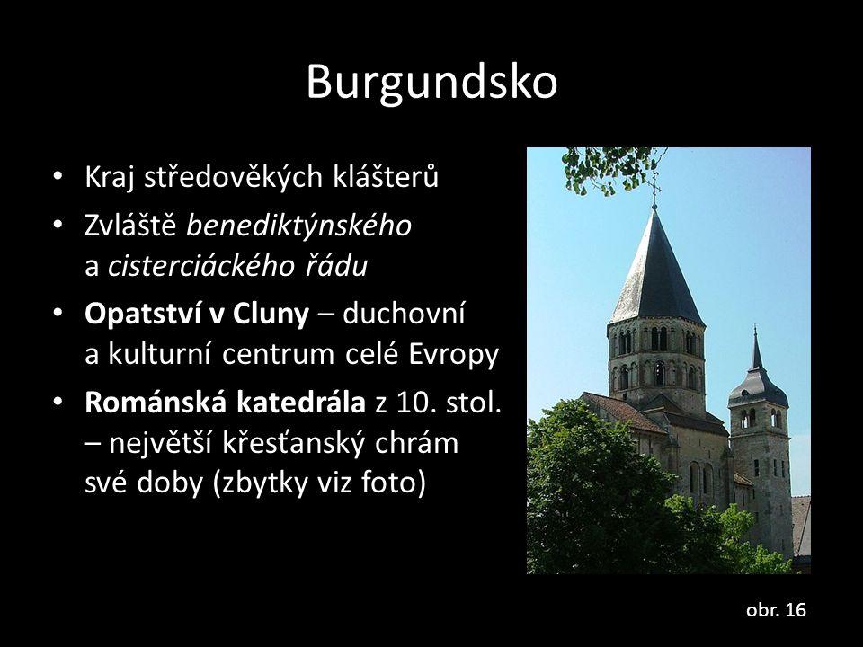 Burgundsko Kraj středověkých klášterů