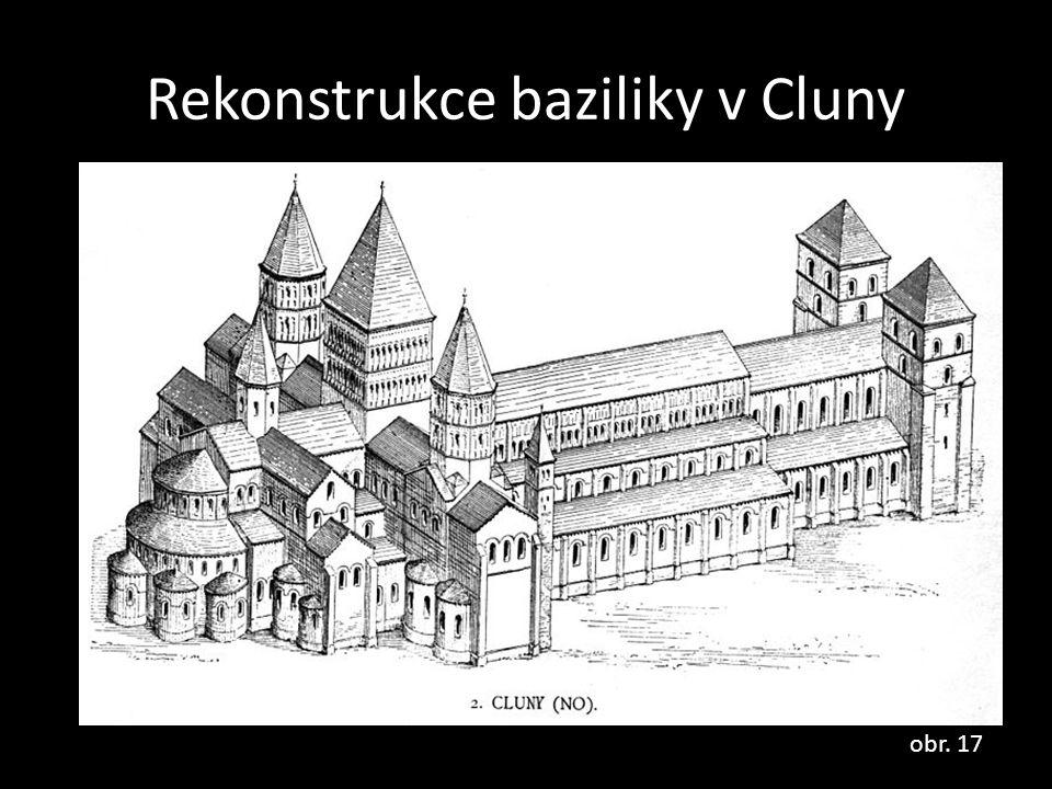 Rekonstrukce baziliky v Cluny