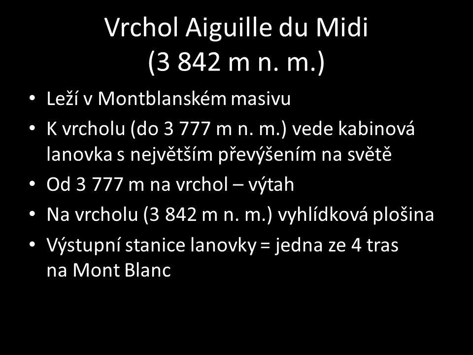Vrchol Aiguille du Midi (3 842 m n. m.)