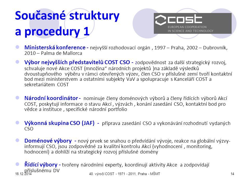 Současné struktury a procedury 1