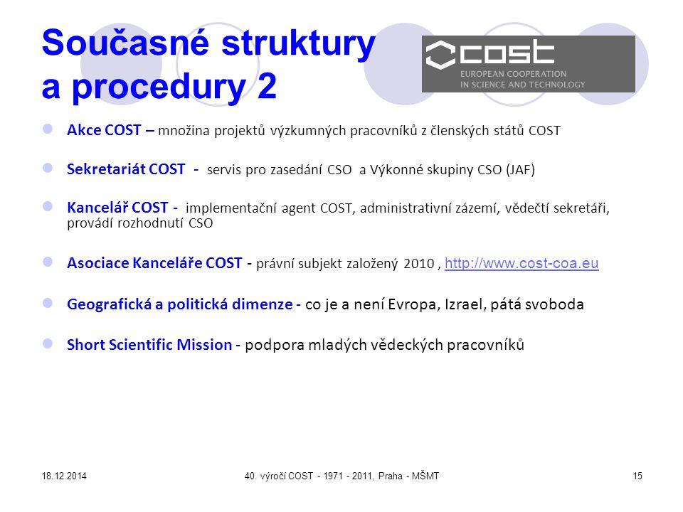 Současné struktury a procedury 2
