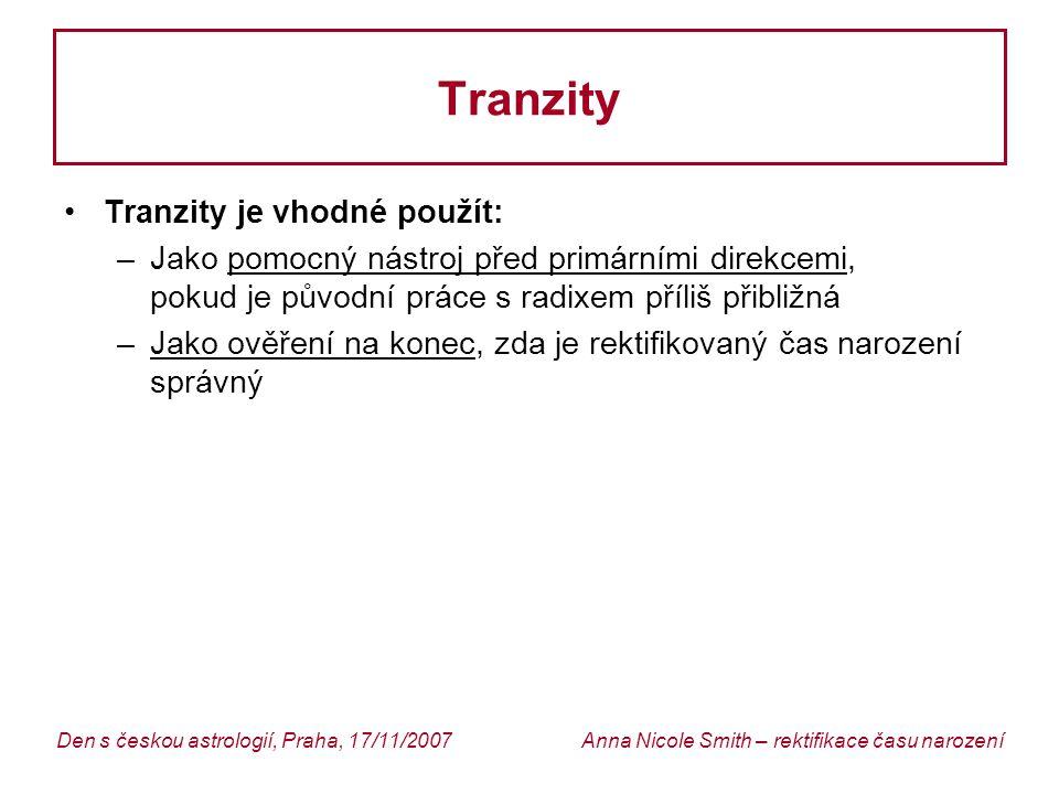 Tranzity Tranzity je vhodné použít: