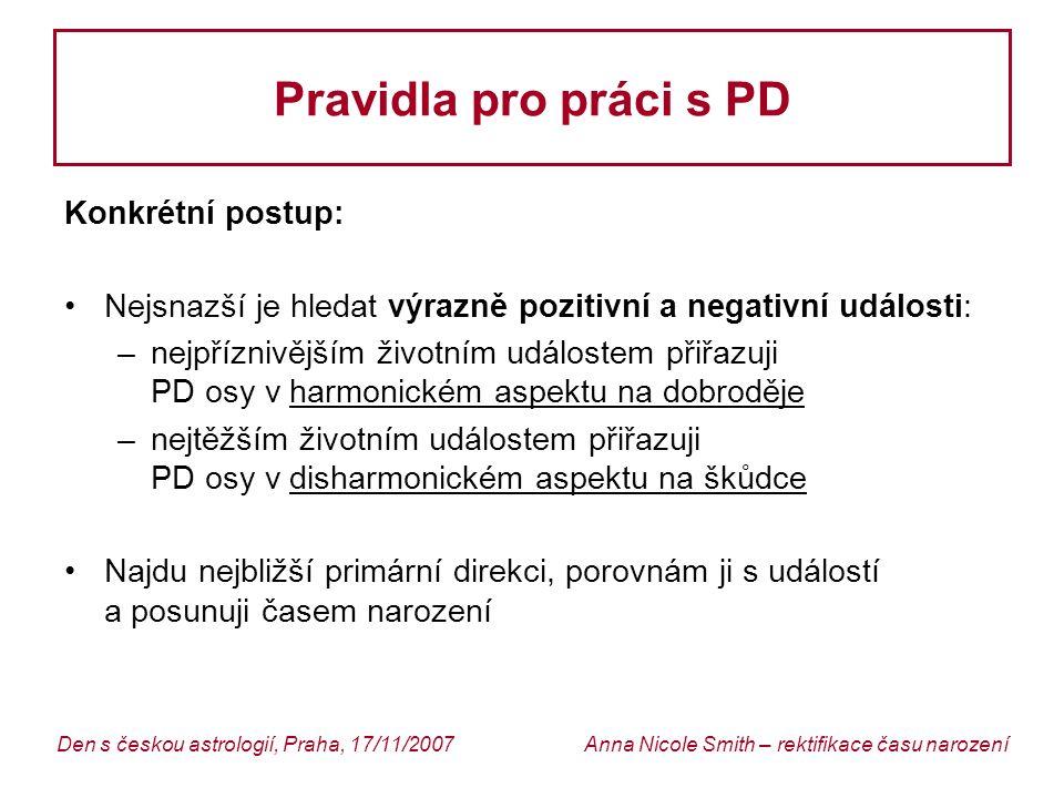 Pravidla pro práci s PD Konkrétní postup: