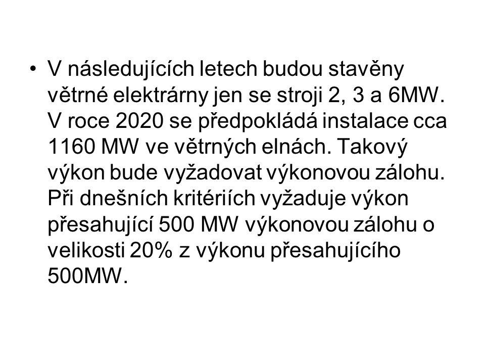 V následujících letech budou stavěny větrné elektrárny jen se stroji 2, 3 a 6MW.