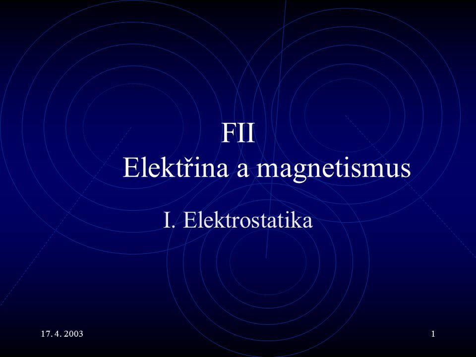 FII Elektřina a magnetismus