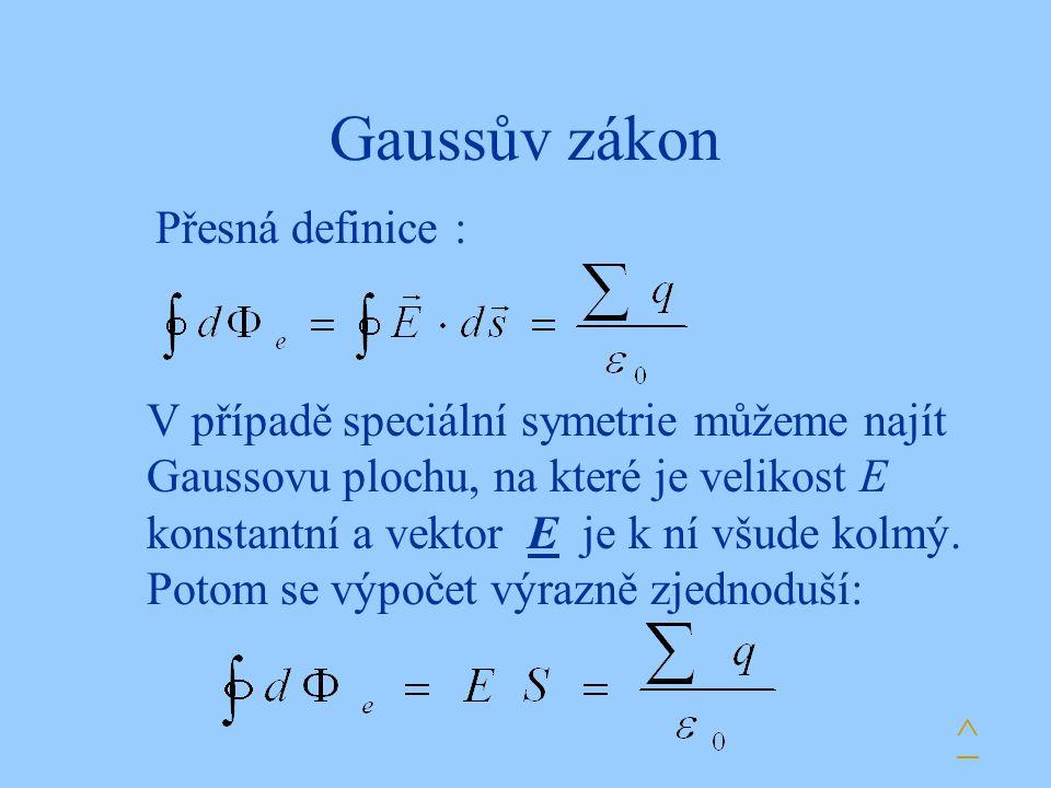 Gaussův zákon Přesná definice :