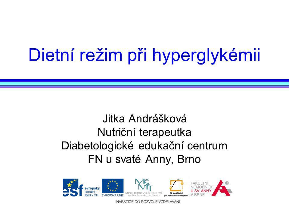 Dietní režim při hyperglykémii