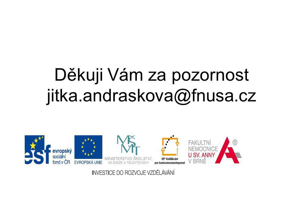 Děkuji Vám za pozornost jitka.andraskova@fnusa.cz