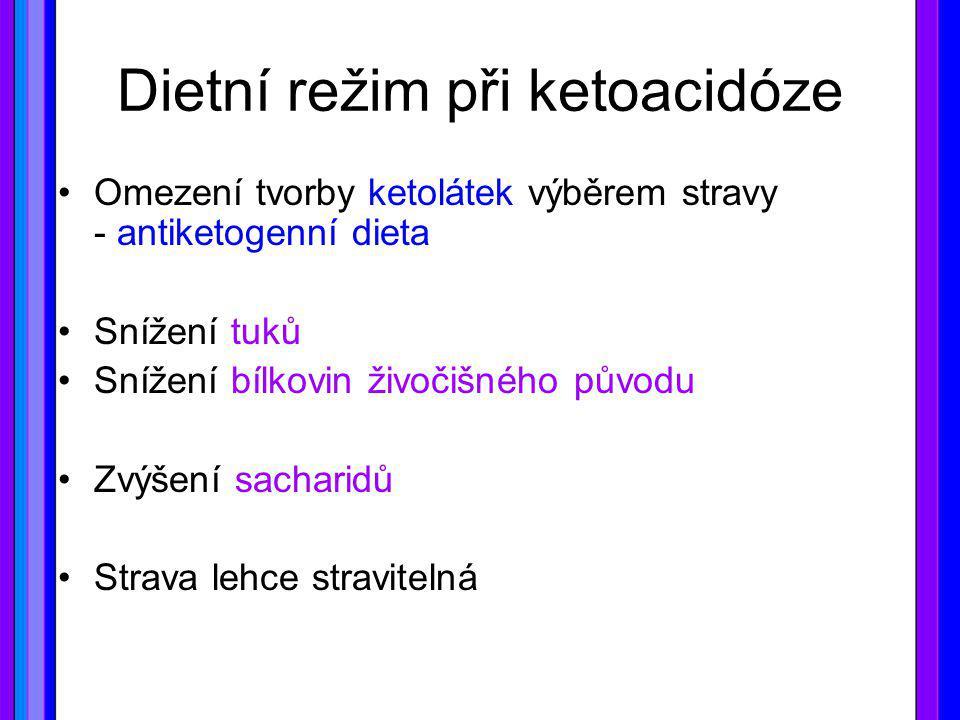Dietní režim při ketoacidóze
