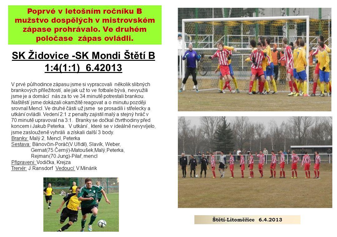 SK Židovice -SK Mondi Štětí B