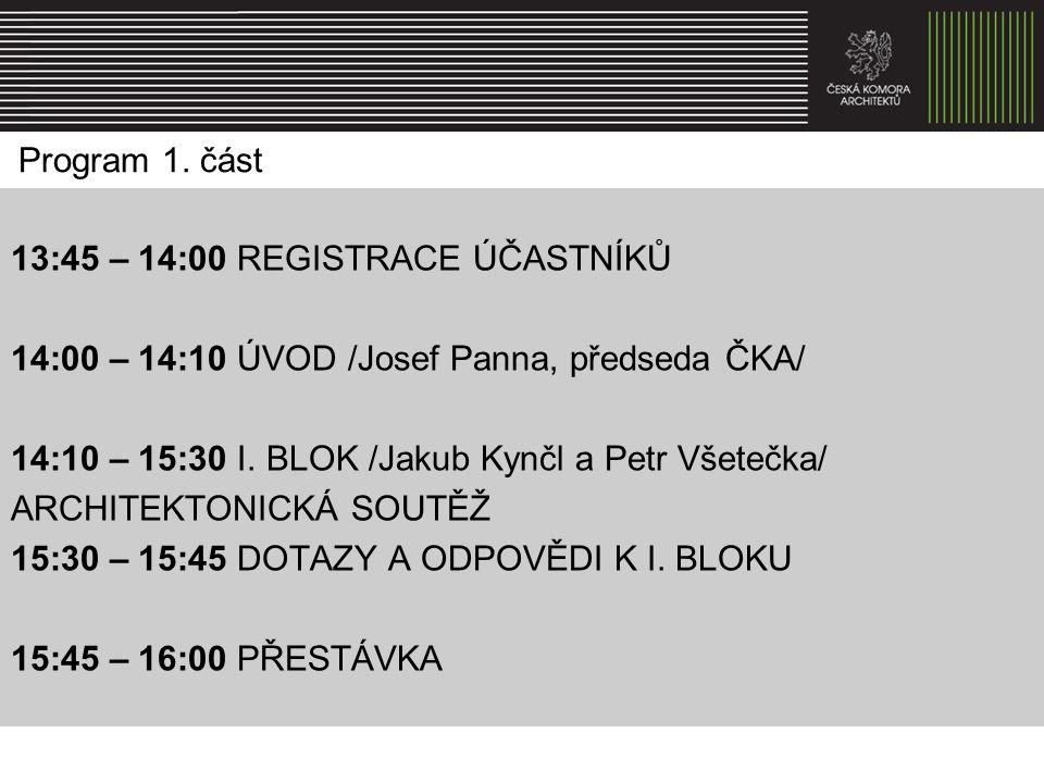 13:45 – 14:00 REGISTRACE ÚČASTNÍKŮ
