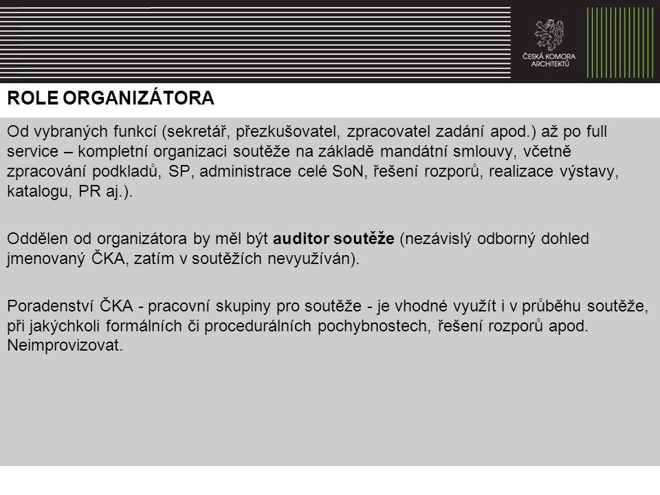 Role organizátora
