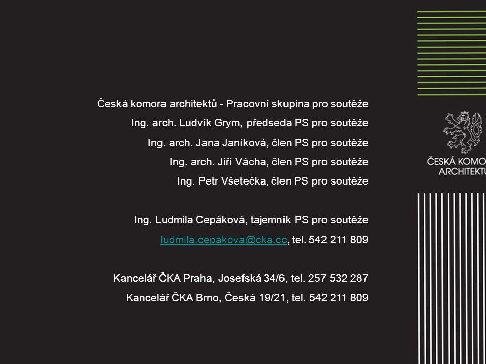 Česká komora architektů - Pracovní skupina pro soutěže