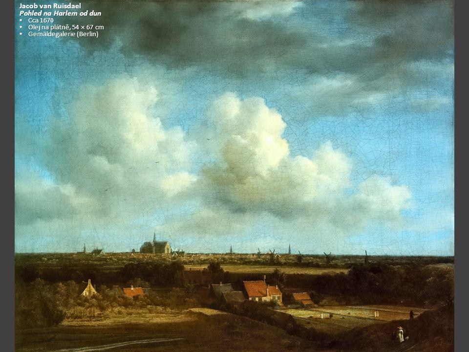 Jacob van Ruisdael Pohled na Harlem od dun Cca 1670