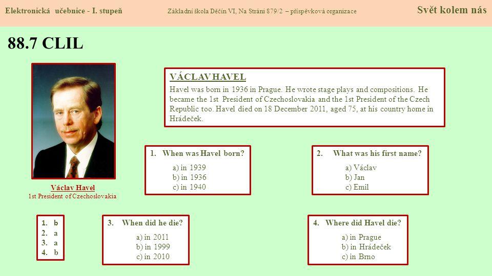 1st President of Czechoslovakia