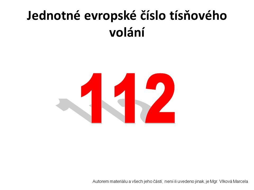 Jednotné evropské číslo tísňového volání