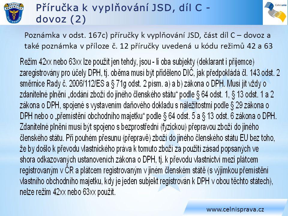 Příručka k vyplňování JSD, díl C - dovoz (2)