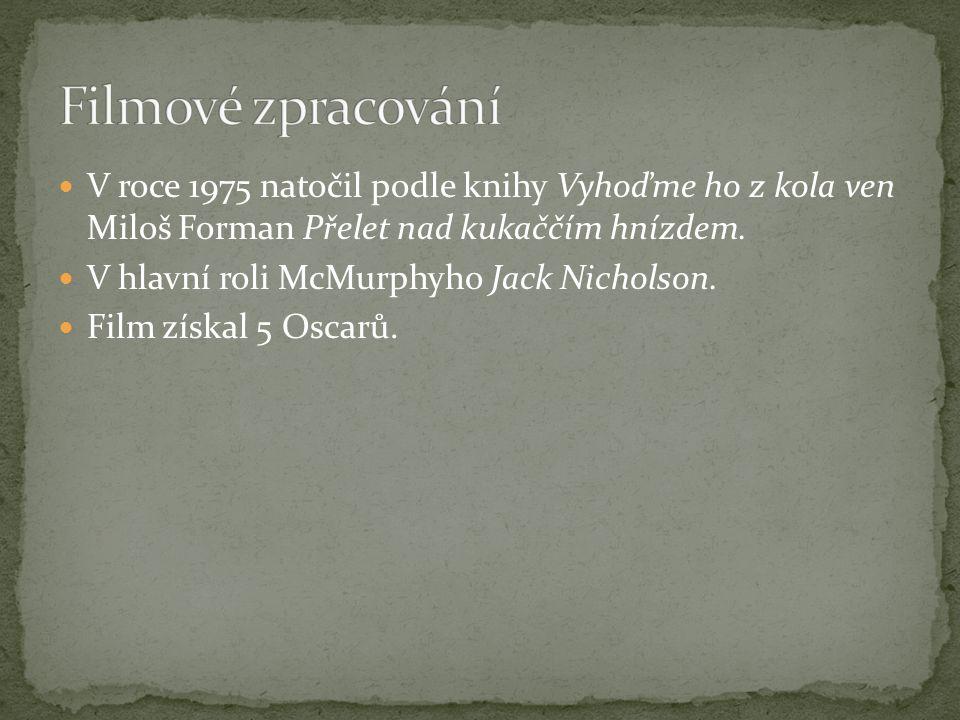 Filmové zpracování V roce 1975 natočil podle knihy Vyhoďme ho z kola ven Miloš Forman Přelet nad kukaččím hnízdem.