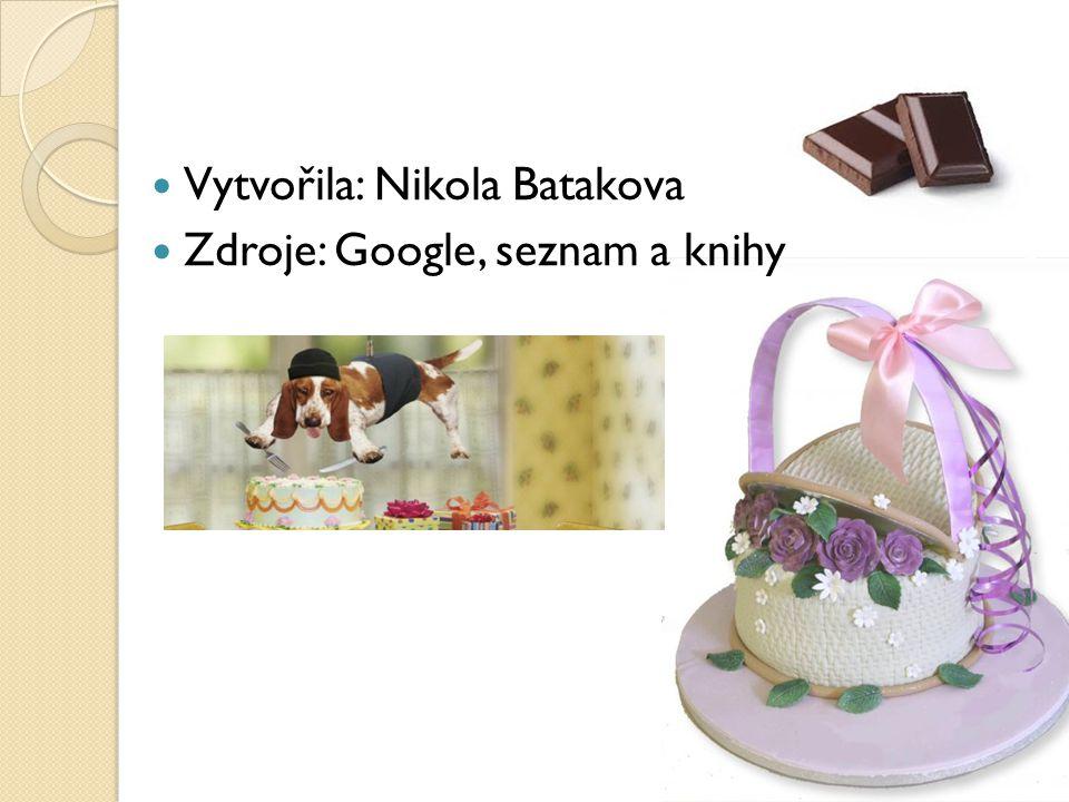 Vytvořila: Nikola Batakova