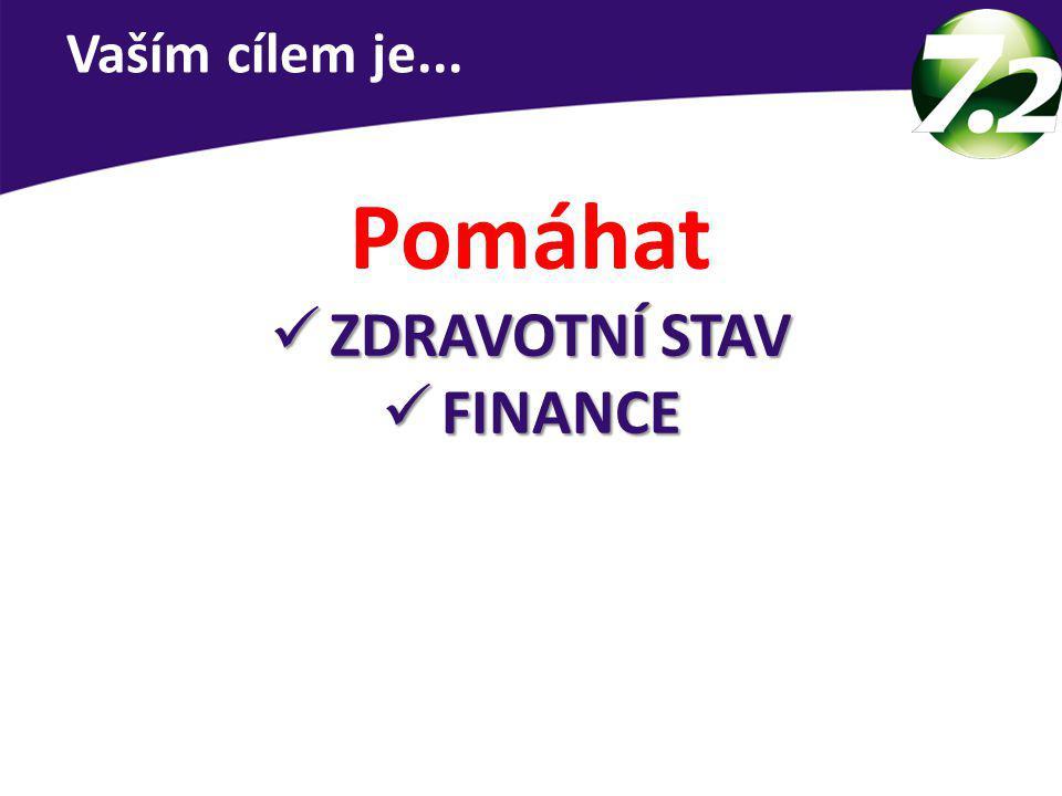 Vaším cílem je... Pomáhat ZDRAVOTNÍ STAV FINANCE