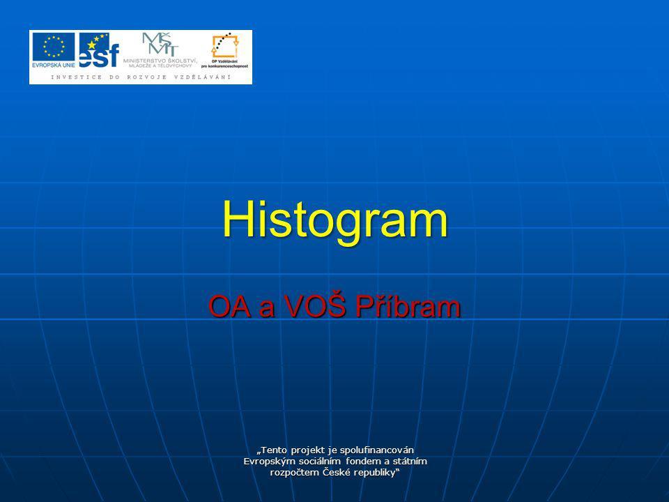 Histogram OA a VOŠ Příbram