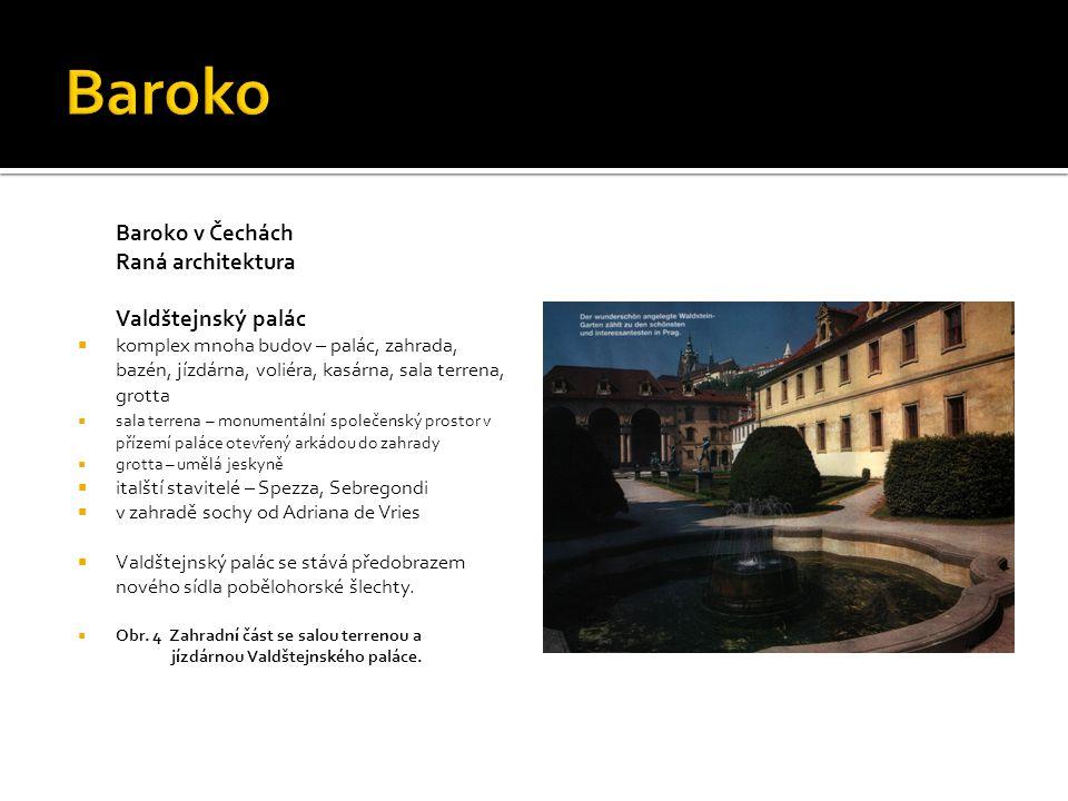 Baroko Baroko v Čechách Raná architektura Valdštejnský palác