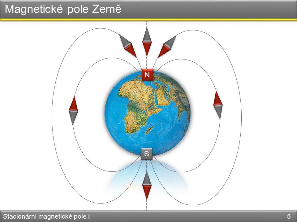 Magnetické pole Země S N N S Stacionární magnetické pole I 5