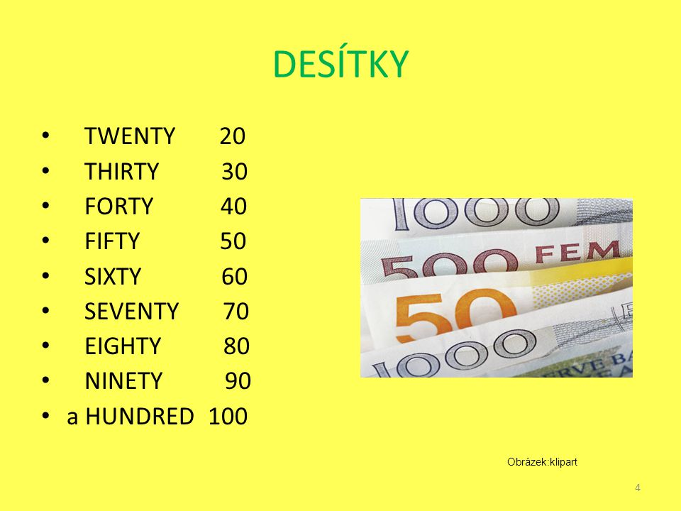 DESÍTKY TWENTY 20 THIRTY 30 FORTY 40 FIFTY 50 SIXTY 60 SEVENTY 70