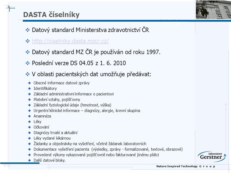 DASTA číselníky Datový standard Ministerstva zdravotnictví ČR