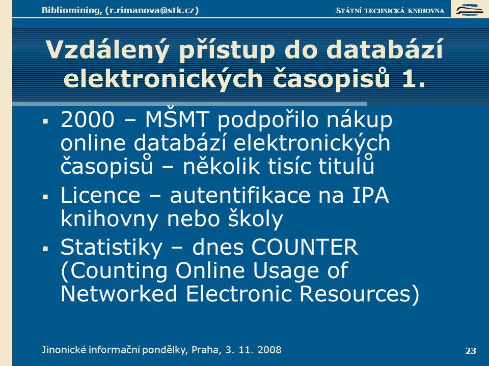 Vzdálený přístup do databází elektronických časopisů 2.