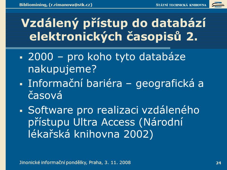Vzdálený přístup do databází elektronických časopisů 3.