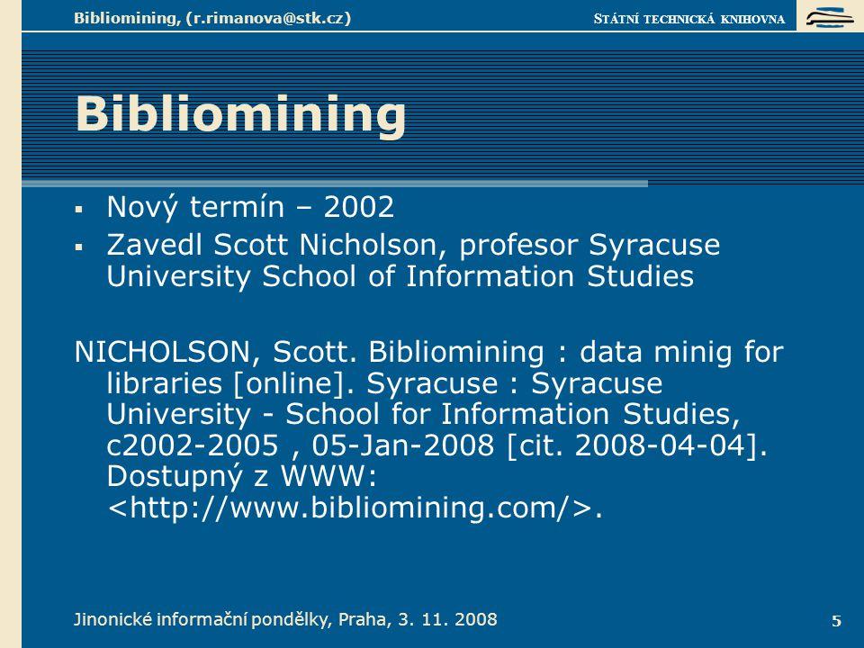 Nový termín Jinonické informační pondělky, Praha, 3. 11. 2008